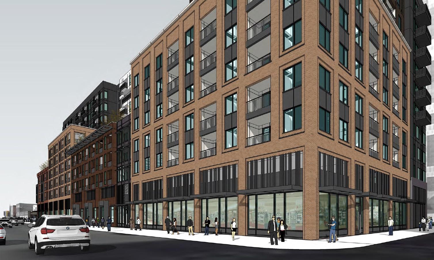 Apartment Building Construction denver cityscape