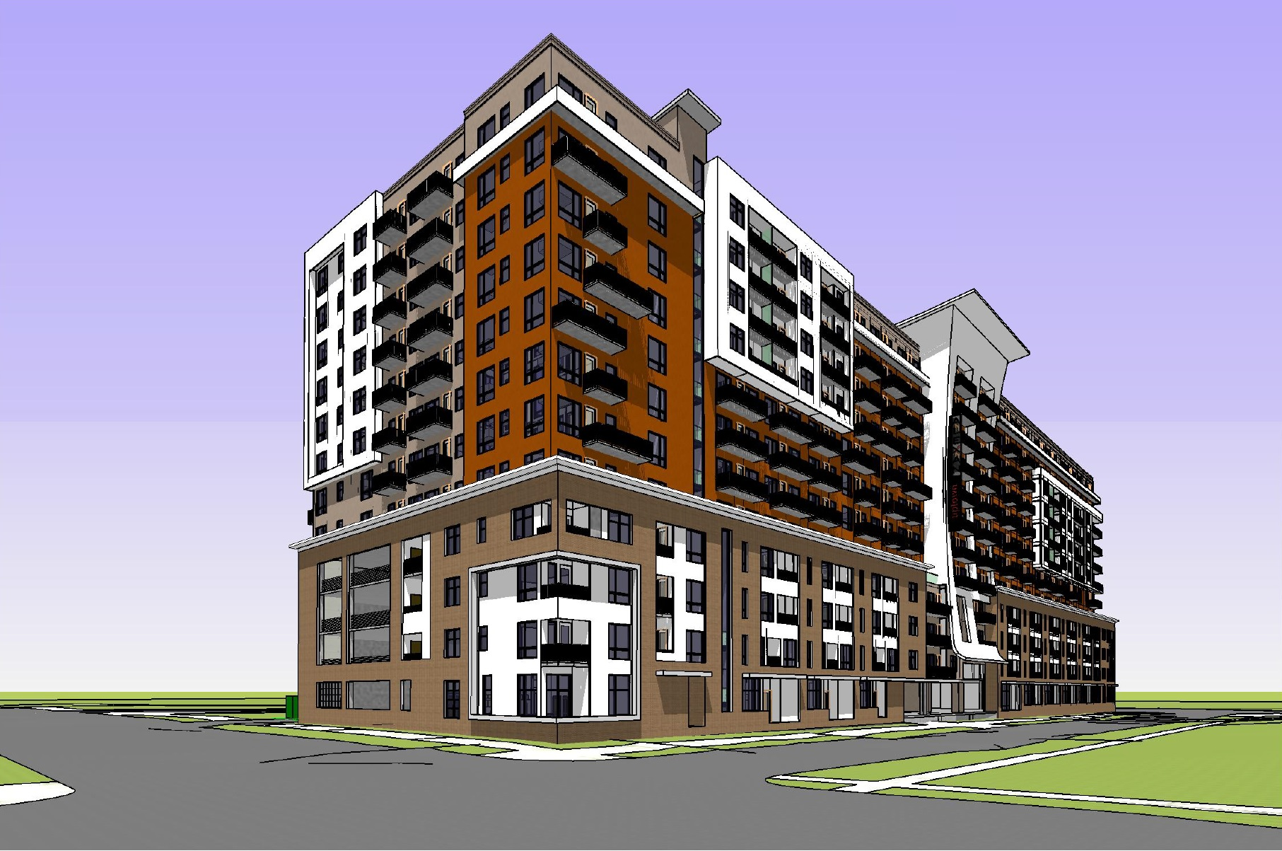 Apartment Building Design Architecture denver cityscape